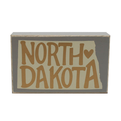 North Dakota Box Sign