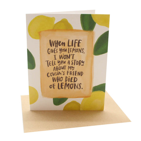 Died of Lemons Card