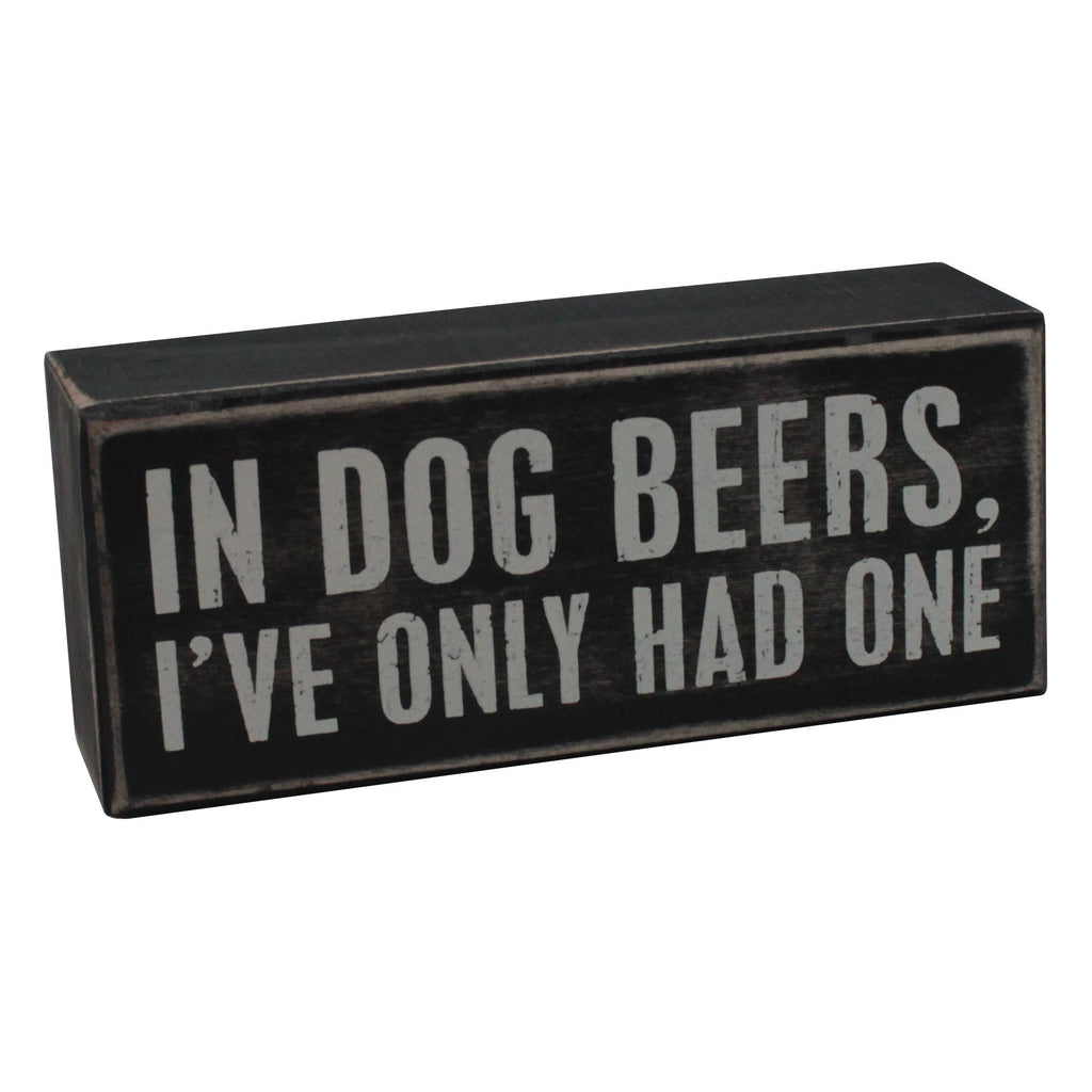 Dog Beers Box Sign