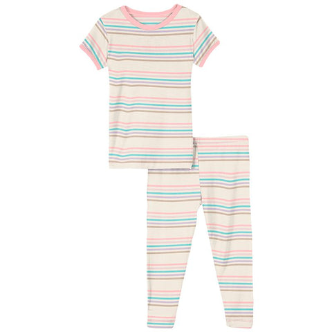 Kickee Pants Cupcake Stripe Pajama Set