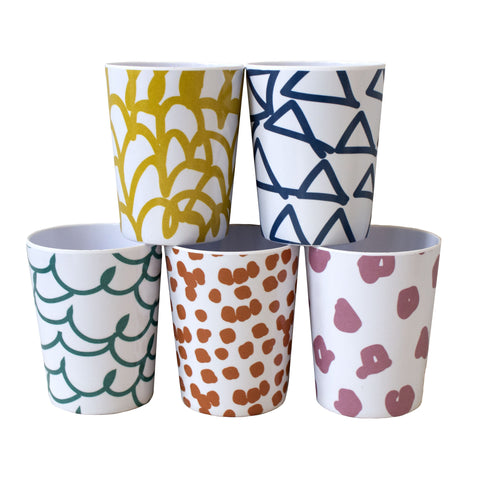 Patterned Kitchen Cups