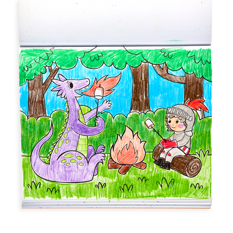 Ooly Knights and Dragons Color In Book