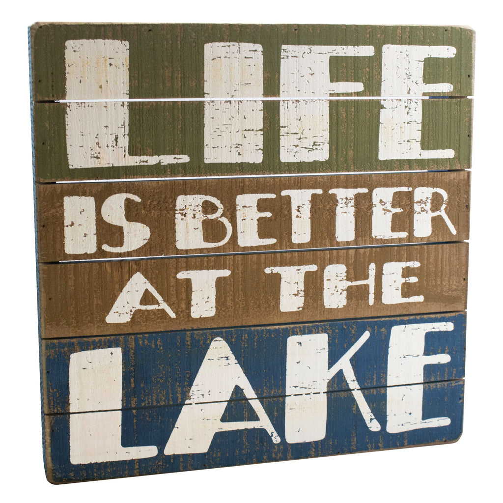 At The Lake Slat Sign