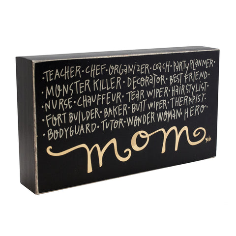 Mom Box Sign