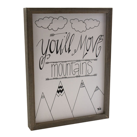 Move Mountains Box Sign