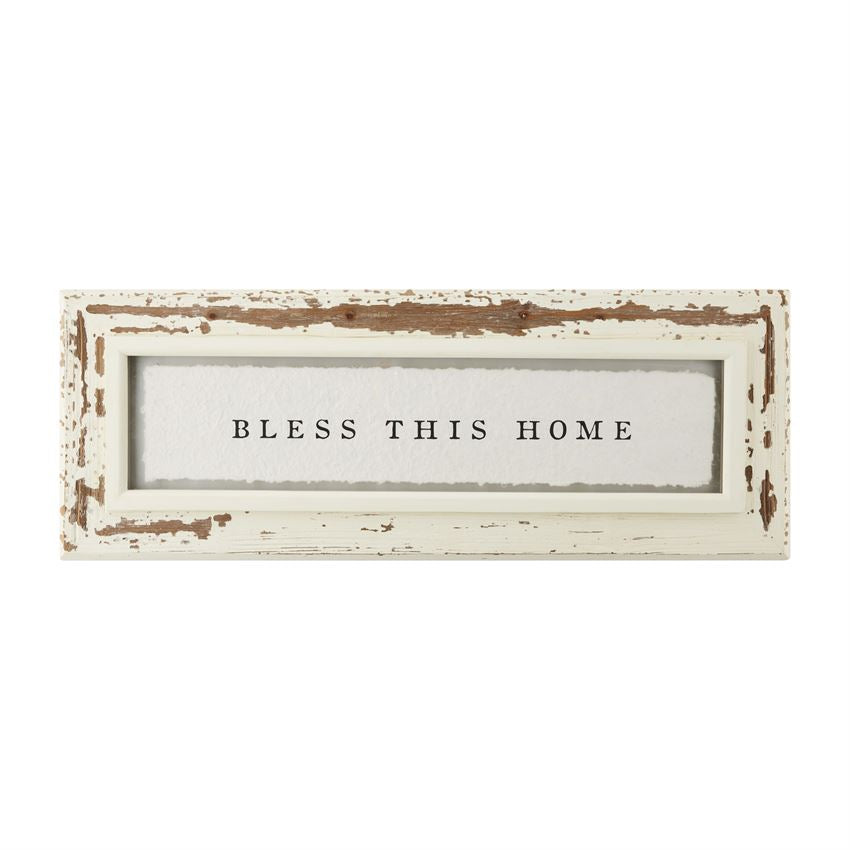 Bless Glass Plaque