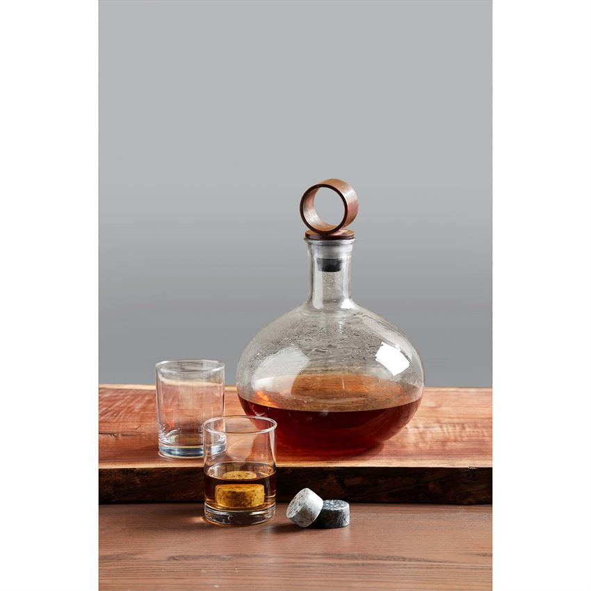 Mudpie Textured Glass Decanter
