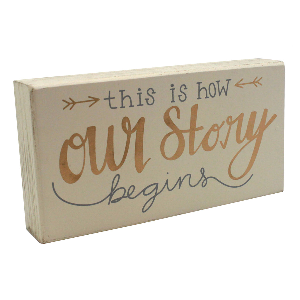 Our Story Box Sign