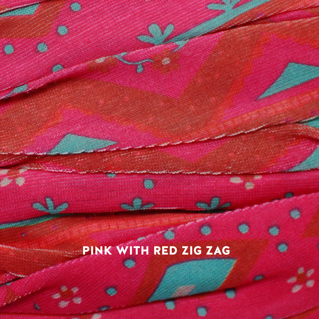 pink with red zig zag boho bandeau