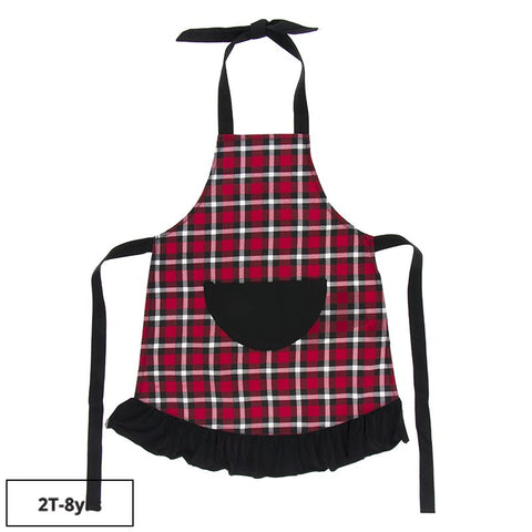 Holiday Plaid Children's Apron