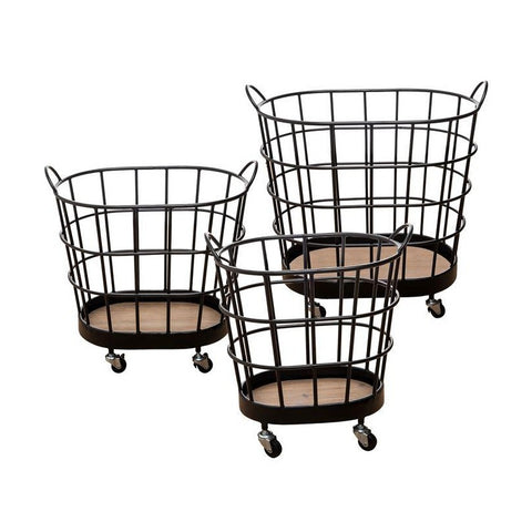 Movable Wire Baskets