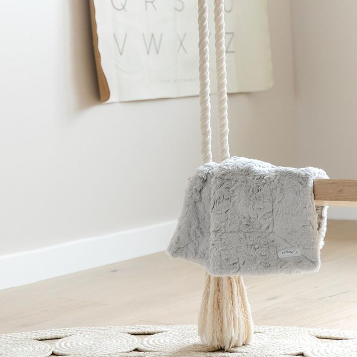 Mini Gray Cloud Blanket
