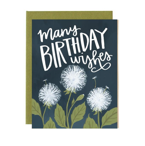 Dandelion Birthday Card
