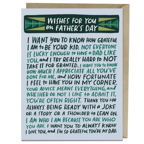 Wishes for Father's Day Card