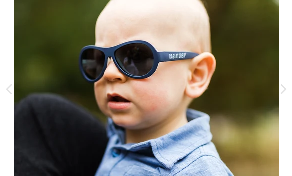 Nautical Navy Toddler Sunglasses
