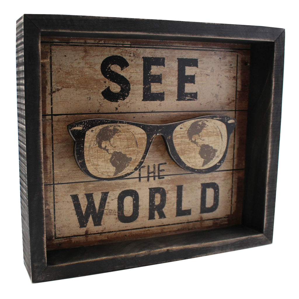 See The World Box Sign