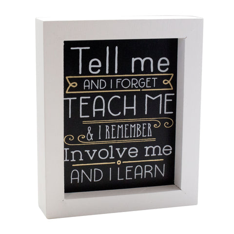 Tell Me Framed Box Sign