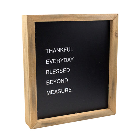 Thankful Everyday Framed Sign