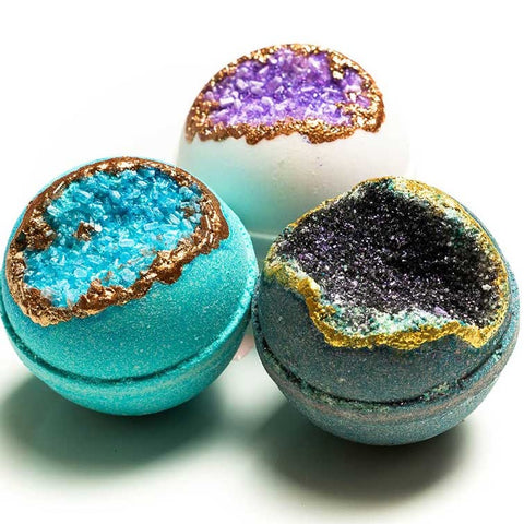 Calm and Relax Geode Bath Bomb Trio