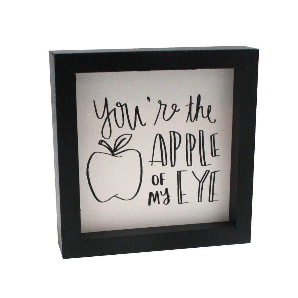 Apple of my Eye Box Sign