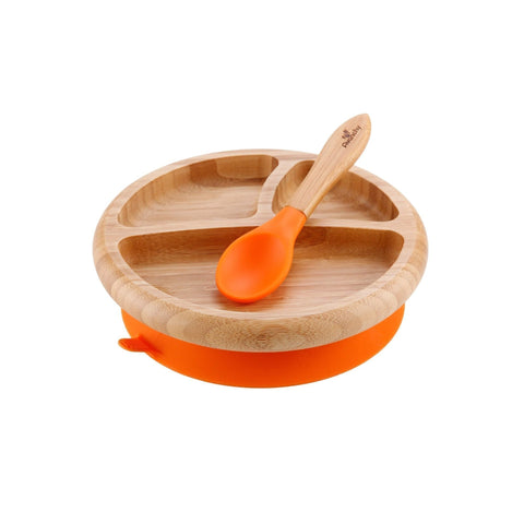 Bamboo Stay Put Baby Plate + Spoon