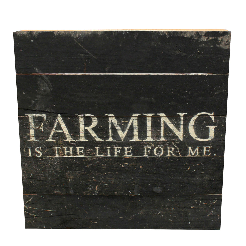 Farming Reclaimed Wood Sign