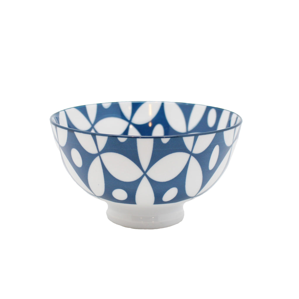 blue patterned bowl