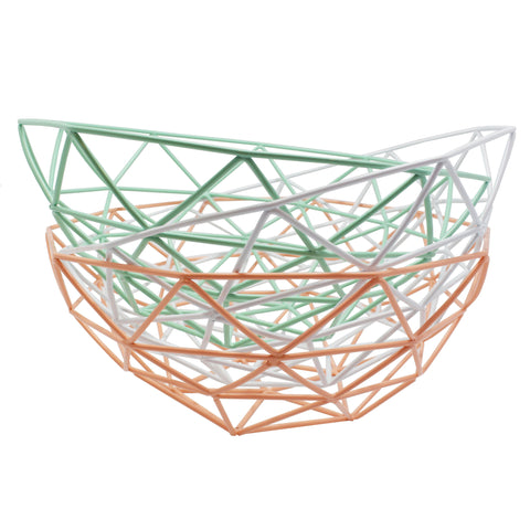 Geometric Metal Basket
