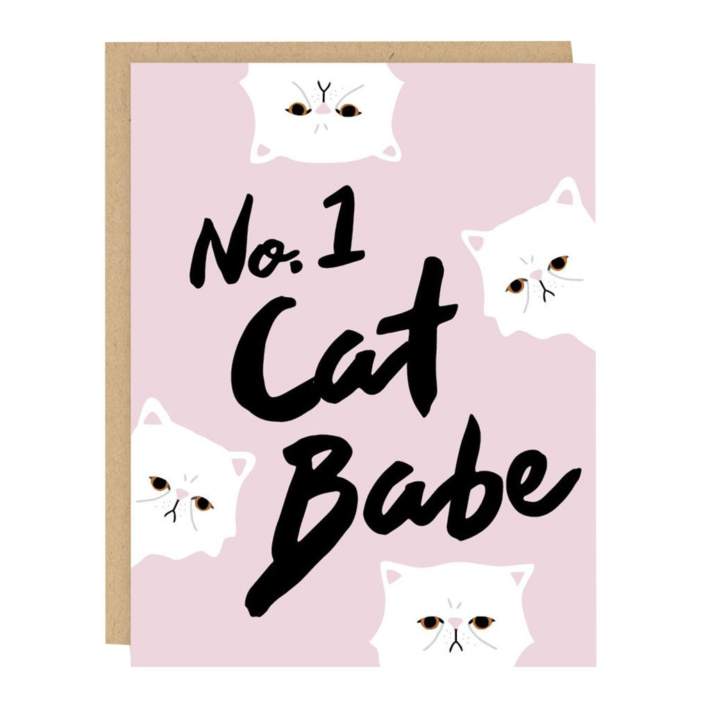 No.1 Cat Babe Card