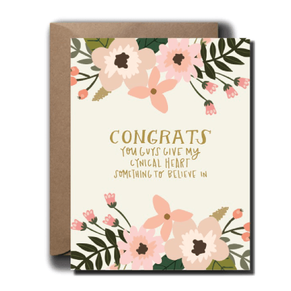 Cynical Heart Wedding Card