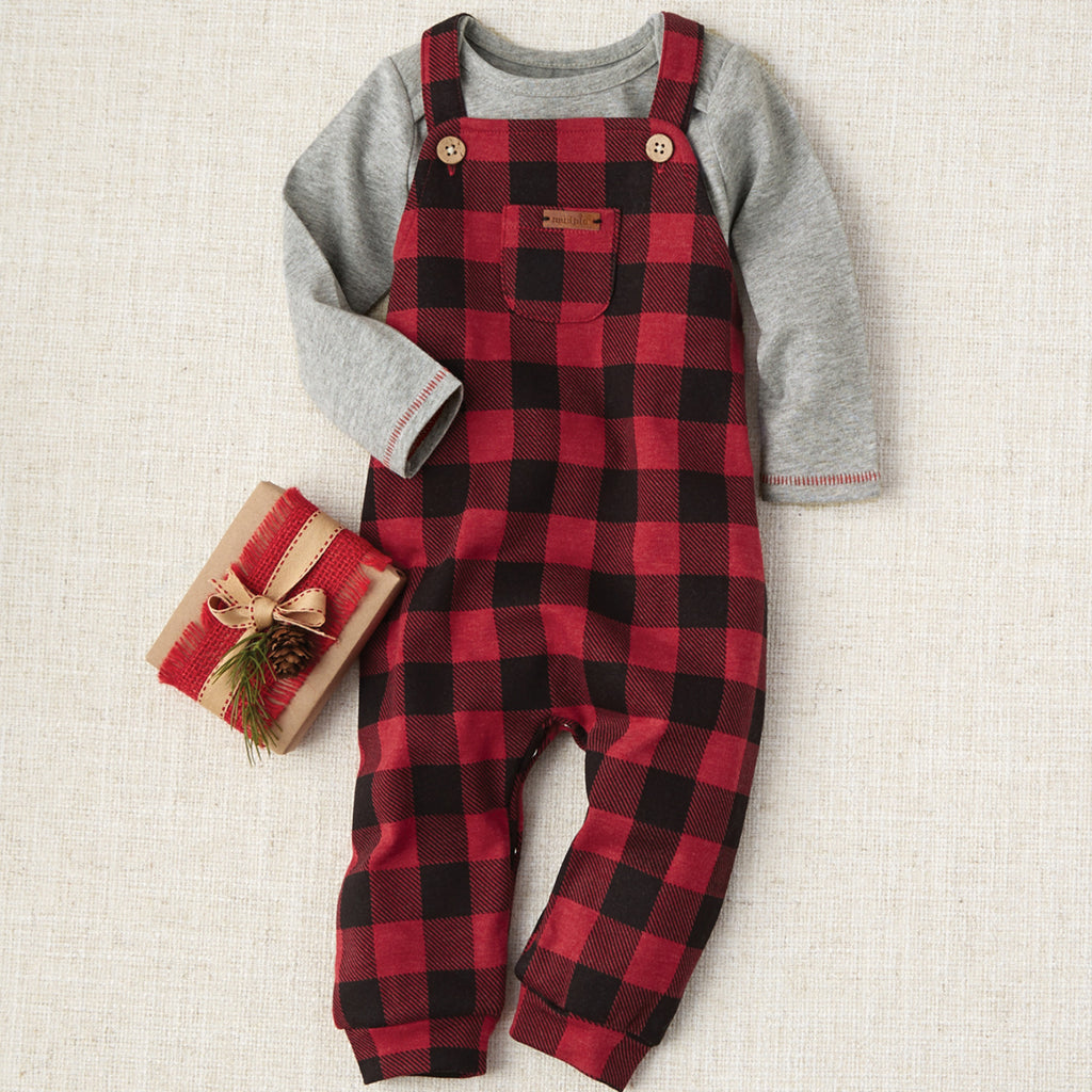 Buffalo Check Overall Set