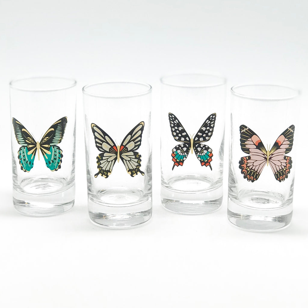 Butterfly Juice Glasses