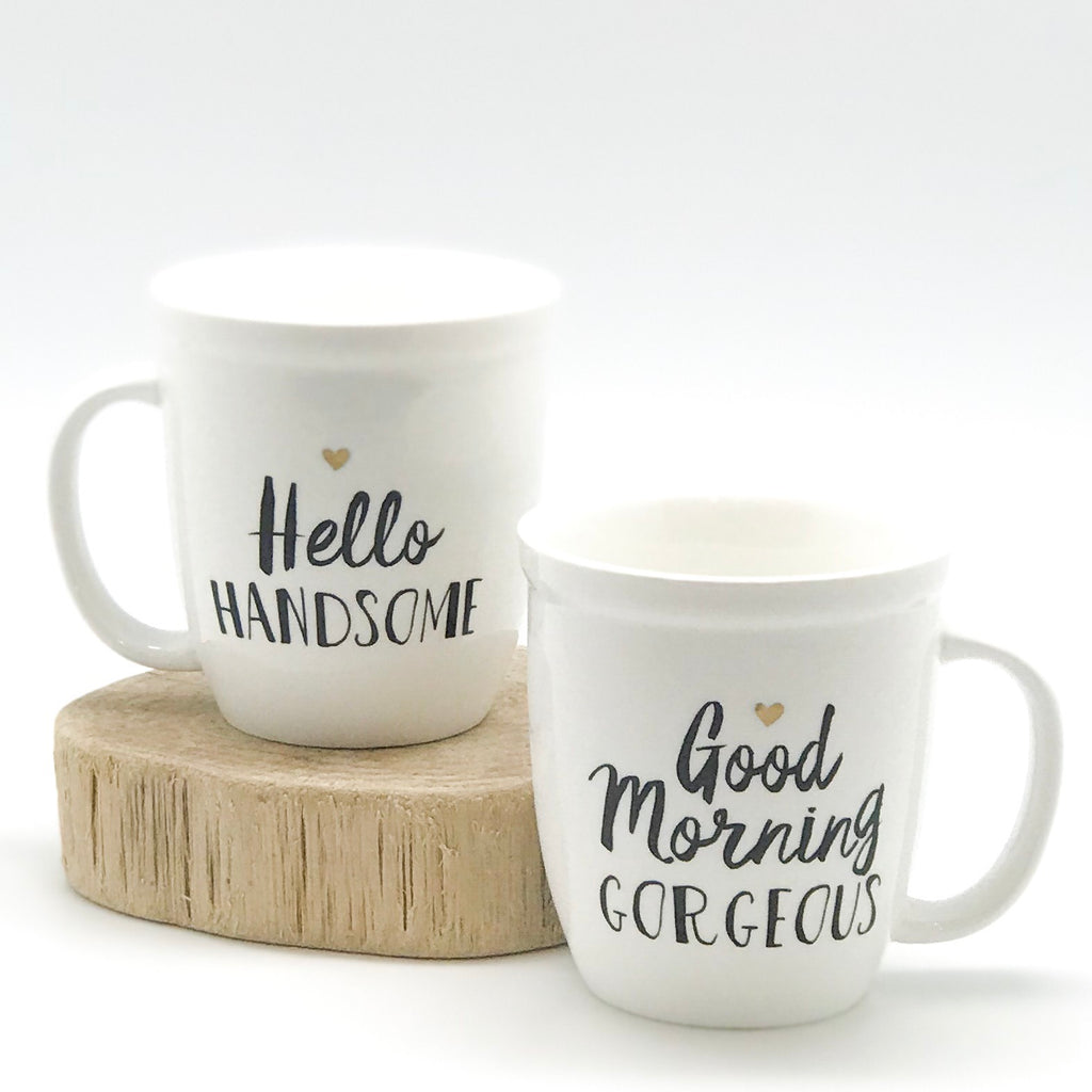 Handsome / Gorgeous Mug Set