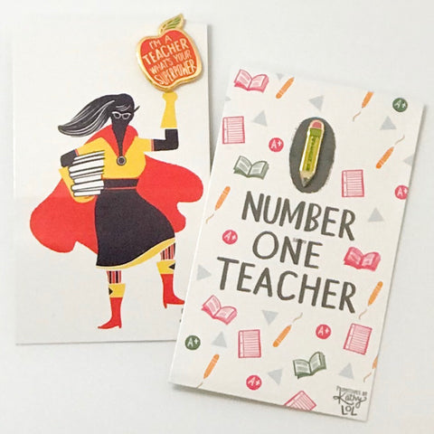 Teacher Enamel Pins