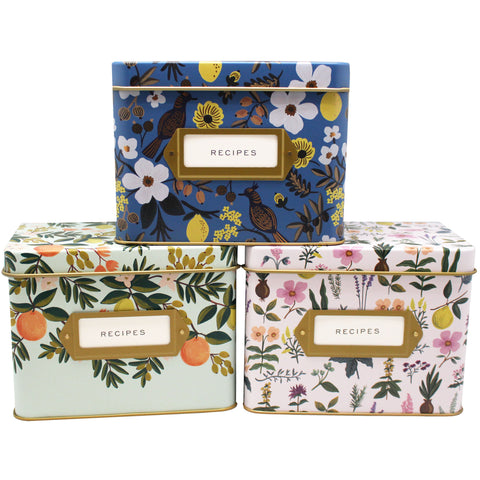 floral recipe boxes