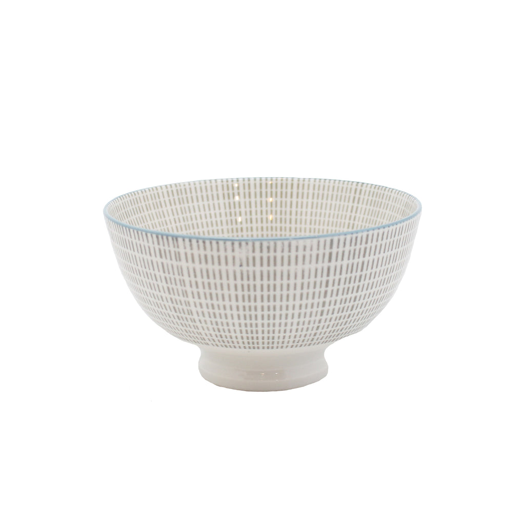 gray patterned bowl