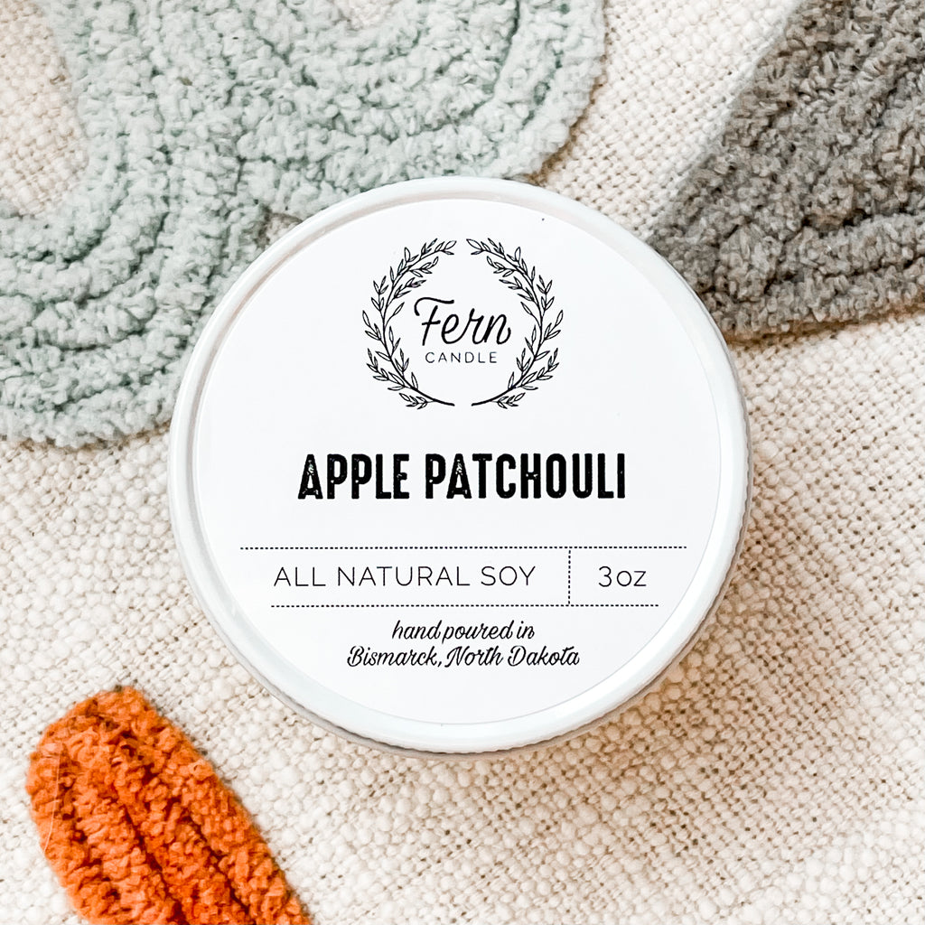 Apple Patchouli Small Candle