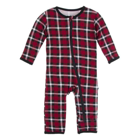 Holiday Plaid Coverall