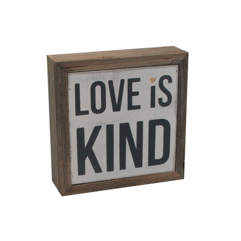 love is kind box sign