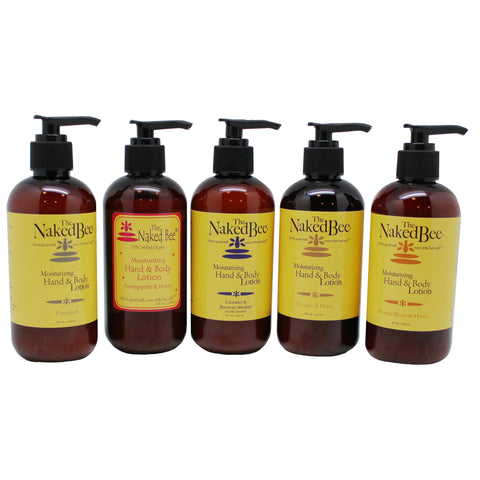 naked bee body lotion with pump