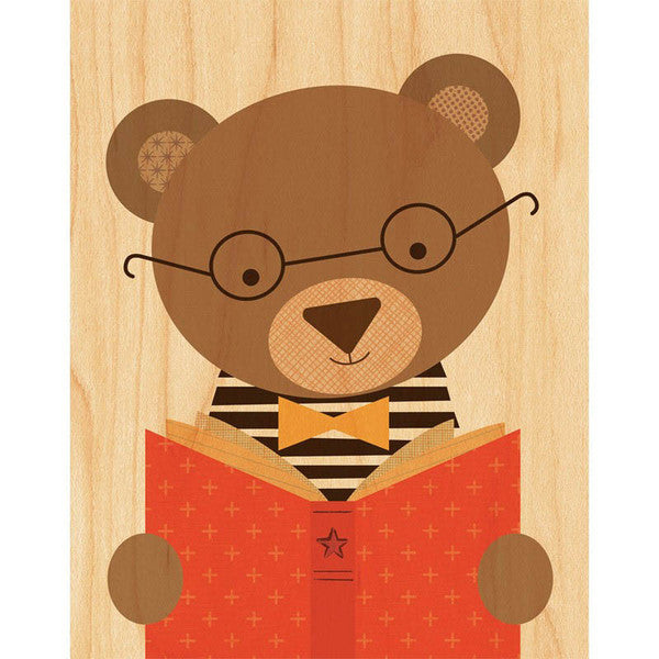 Story Bear Print on Wood
