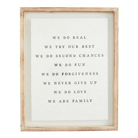 We Are Family Glass Plaque