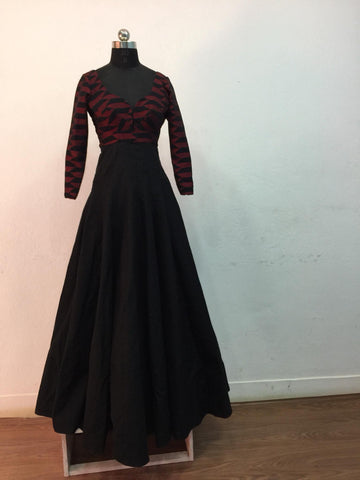Dhaka black and red gown