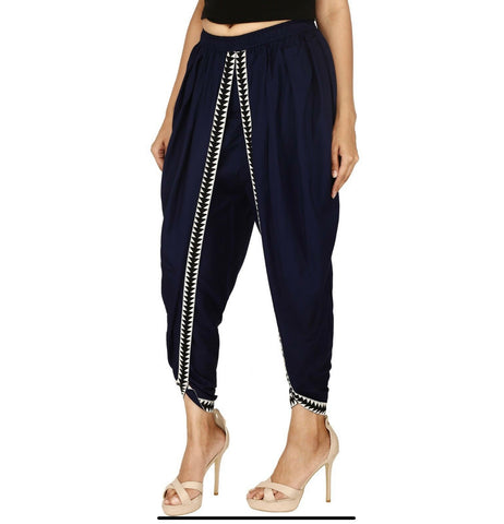 Navy blue Dhoti trouser