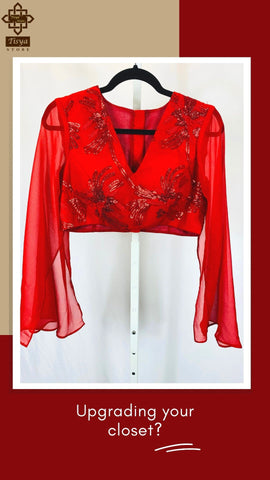 Designer Red Blouse