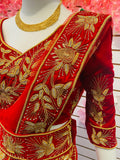 Bridal Net sari and blouse with Embroidery