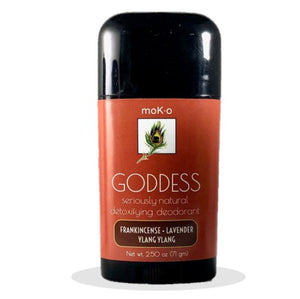 Moko's Godess natural deodorant with frankincense, lavender and ylang ylang.