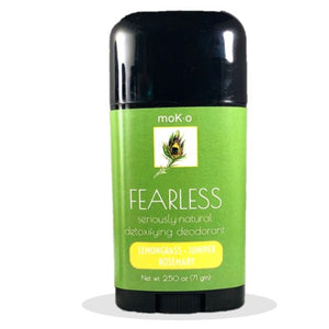 Armpit detox benefits are in Fearless by Moko. Lemongrass, Juniper & Rosemary.