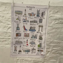 Load and play video in Gallery viewer, Plymouth A-Z Tea Towel
