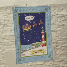 Load and play video in Gallery viewer,  Smeaton's Greetings 'Hoe Hoe Hoe' Christmas Tea Towel